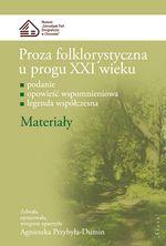 Book Cover: Proza folklorystyczna... Materiały cz.2